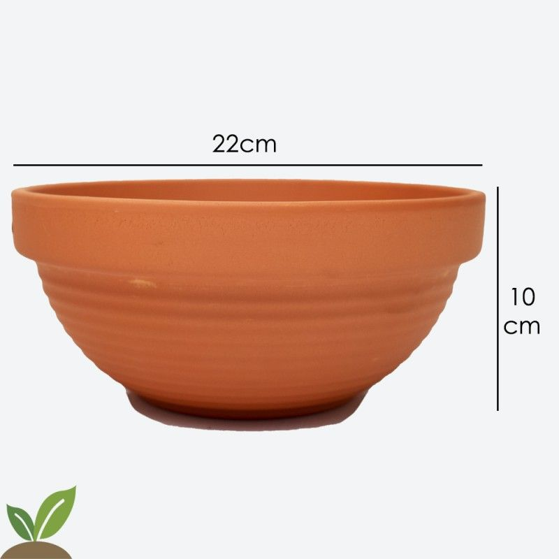TACA (TAZA) DE BARRO RELIEVE 22x10 CM