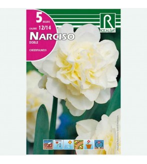 BULBO NARCISO DOBLE CHEERFULNESS BLANCO - 5 UD