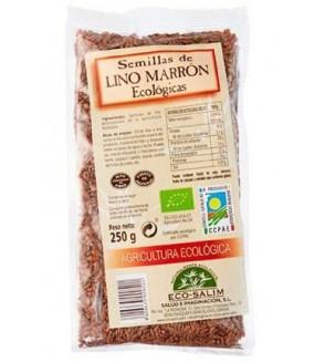 SEMILLAS DE LINO MARRON ECOLOGICAS 250 GR. L´EXQUISIT