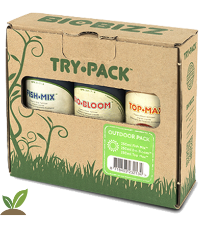 BIOBIZZ TRY-PACK ™ OUTDOOR. FERTILIZANTES ORGANICOS EXTERIOR.